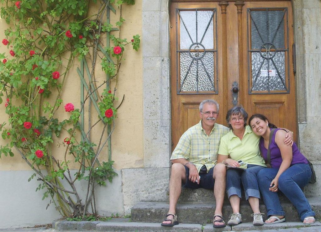 Gastfamilie mit Austauschschülerin