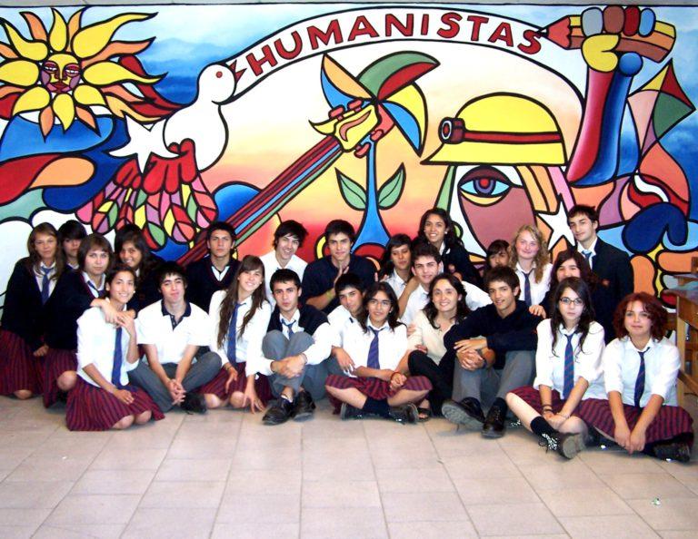 Gruppe Austauschschüler